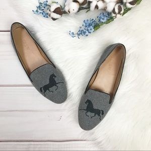 J. Crew Factory Addie Gallop Loafers Size 8